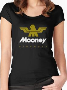 Mooney Vintage Aircraft USA Women's Fitted Scoop T-Shirt