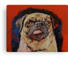 Pug Portrait Canvas Print