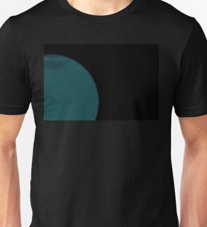 Wire Globe Half Blue Unisex T-Shirt