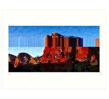 mountain: Red Rock West. VividScene Art Print