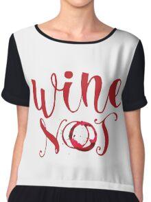 Wine Not Chiffon Top