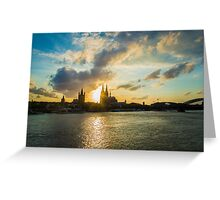 Cologne at sunset  Greeting Card