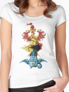 articuno zapdos moltress legendary pokemon tower Women's Fitted Scoop T-Shirt