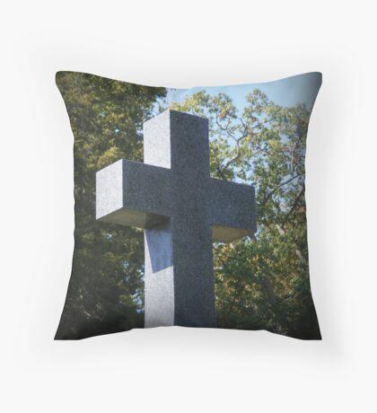 Believe In The Cross Throw Pillow