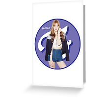 TWICE Momo Greeting Card