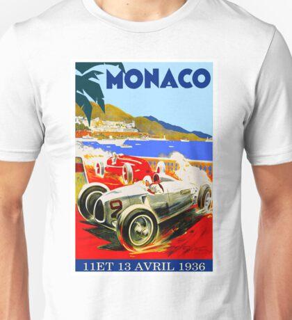 """MONACO GRAND PRIX"" Vintage Advertising Print Unisex T-Shirt"