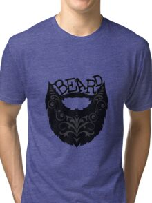 Ornate Black Beard Tri-blend T-Shirt