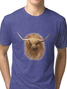 Highland cattle bull Tri-blend T-Shirt