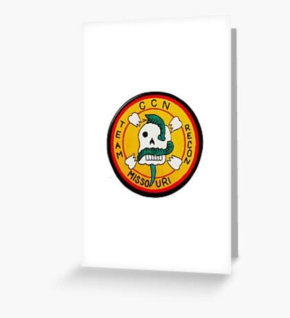 MACV SOG CCN RECON TEAM MISSOURI Greeting Card