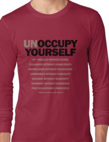 unoccupy yourself (version 2) Long Sleeve T-Shirt