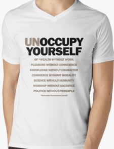 unoccupy yourself (version 2) Mens V-Neck T-Shirt