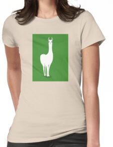 STANDING LLAMA #5 Womens Fitted T-Shirt