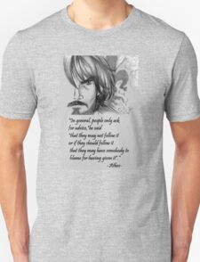 Athos Sketch Quote Unisex T-Shirt