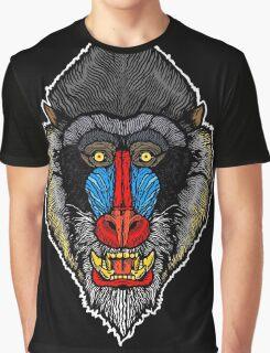 Mandrill Face Graphic T-Shirt