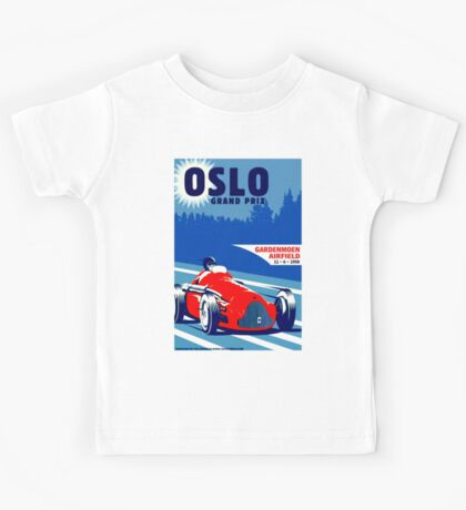 """OSLO GRAND PRIX"" Vintage Auto Race Print Kids Tee"