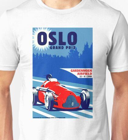 """OSLO GRAND PRIX"" Vintage Auto Race Print Unisex T-Shirt"