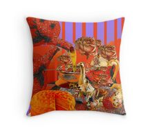 Still Life with Orange Tea and Cake  Throw Pillow