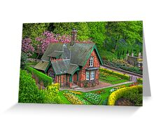 Gardener's cottage Greeting Card