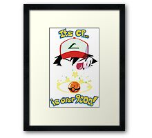 Its CP is over 9000! Framed Print