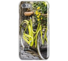 Flowers in Bicycle Basket iPhone Case/Skin