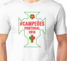 Portugal Euro 2016 Champions T-Shirts etc. ID-20 on White Unisex T-Shirt
