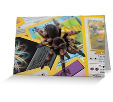 Brachypelma Smithi on Pokemon Greeting Card