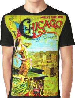 """CHICAGO WORLDS FAIR"" Vintage (1893) Advertising Print Graphic T-Shirt"