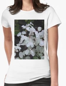 white plant Womens Fitted T-Shirt