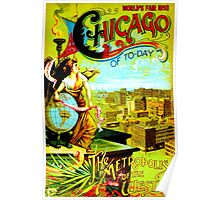 """CHICAGO WORLDS FAIR"" Vintage (1893) Advertising Print Poster"