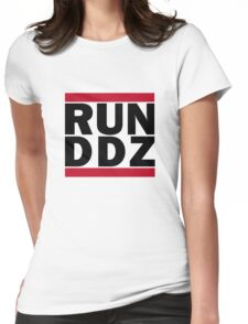 Run-D.D.Z. (Black) Womens Fitted T-Shirt