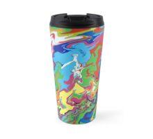 Horizontal Paint Flow Travel Mug