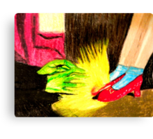 OZ THE RUBY SLIPPERS Canvas Print