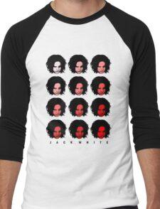 Jack White - Red Pattern Men's Baseball ¾ T-Shirt