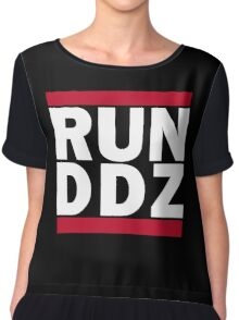 Run-D.D.Z. (White) Chiffon Top