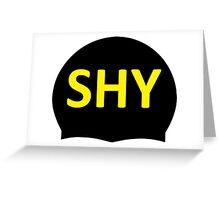 SHY Swim Cap Greeting Card