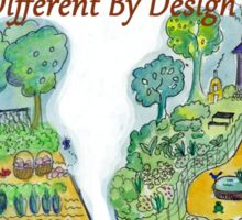Difference Between Organic Gardening and Permaculture Sticker