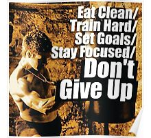 Eat Clean, Train Hard Poster