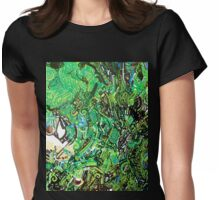 Up Close Chameleon Face Womens Fitted T-Shirt