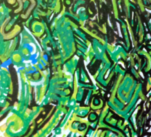 Up Close Chameleon Face Sticker