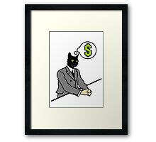 Cat Man VRS2 Framed Print