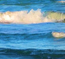 Beautiful painted waves on the Queensland coast Sticker