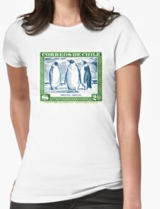 1948 Chile Emperor Penguin Postage Stamp Womens Fitted T-Shirt
