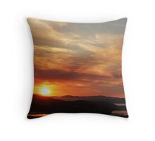 Solstice sunset Throw Pillow