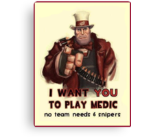 Uncle Heavy wants YOU Canvas Print