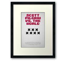 Scott Pilrim vs The World Framed Print