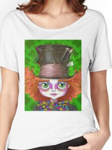 "Johnny Depp as Mad Hatter in Tim Burton's ""Alice in Wonderland"" Women's Relaxed Fit T-Shirt"