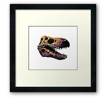 T. Rex Skull Fossil Illustration Framed Print