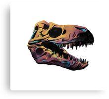T. Rex Skull Fossil Illustration Canvas Print