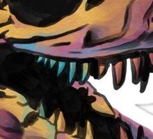 T. Rex Skull Fossil Illustration Sticker