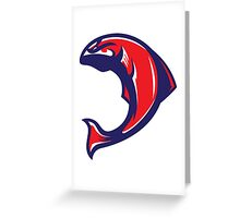 American Salmon (Red/White/Blue) - Spor Repor Salmon Greeting Card